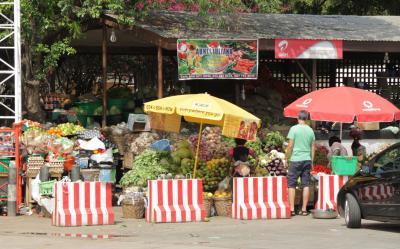 Fruit stalls in Accra, Ghana